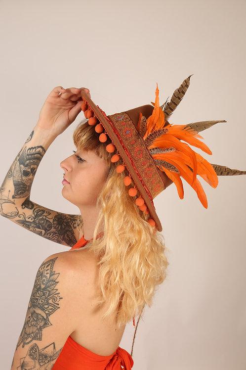 The Orangutan Feather Trilby Hat