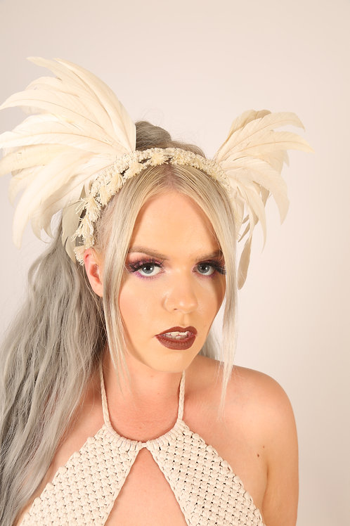 The Angelic Feather Headpiece