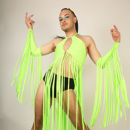 The Neon Green Tassel Sleeves