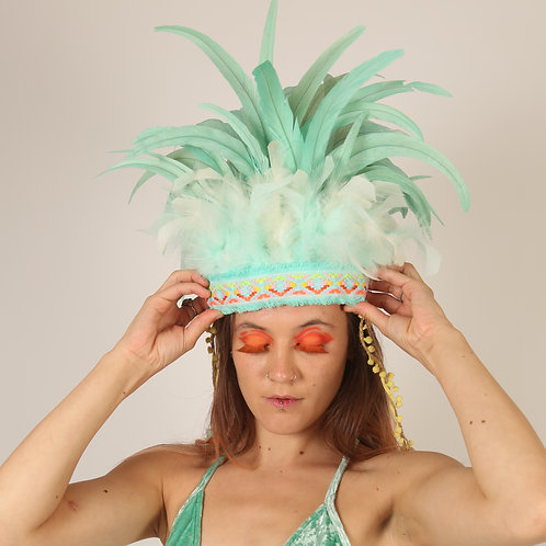 The Ice Paradise Feather Headpiece