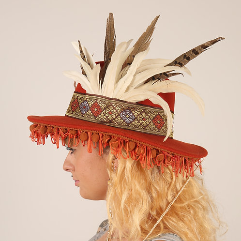 The Hippie Feather Trilby Hat
