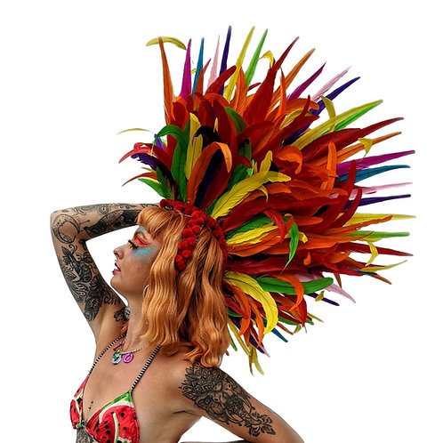 The Rosella in Revolver Feather Mohawk