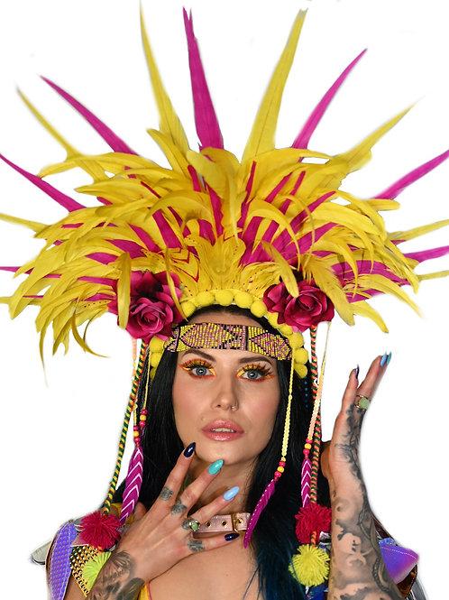 The Fruit Salad Fantasy Feather Headpiece