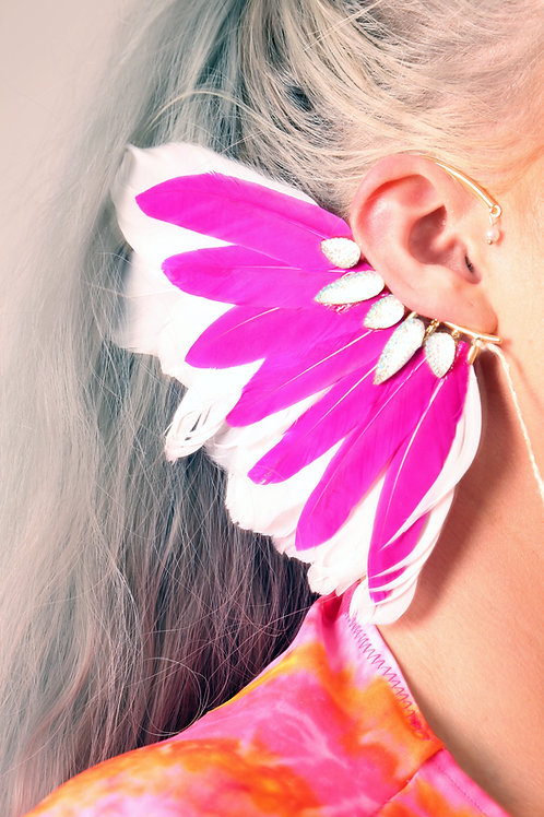 The Calypso Feather Ear Cuff