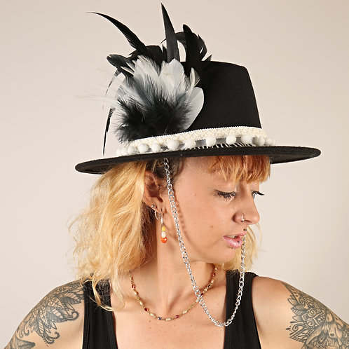 The Gatsby Feather Trilby Hat