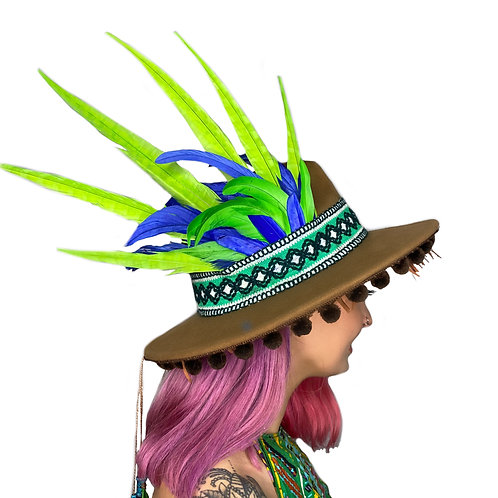 The Stoner Feather Trilby Hat