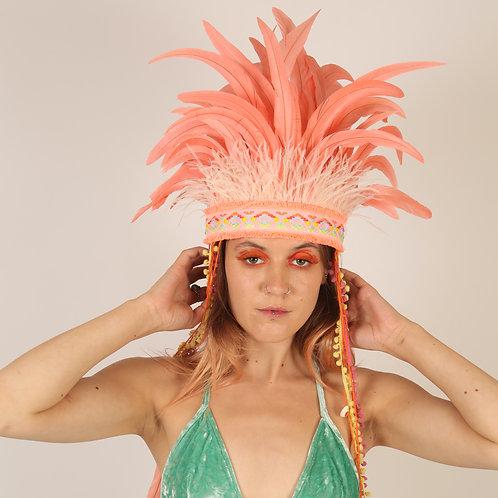 The Flamingo Fantasy Feather Headpiece