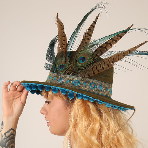 The Jodhpur Feather Trilby Hat