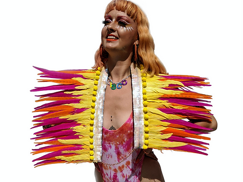 The Fruit Salad Fantasy Feather Collar