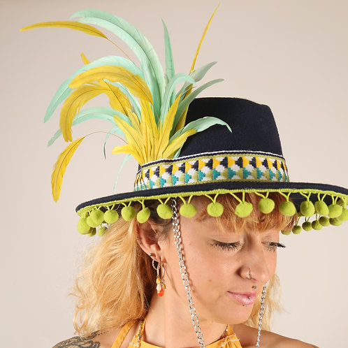 The Hummingbird Feather Trilby Hat
