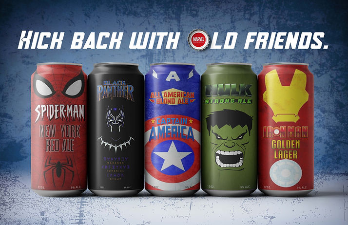 2 Avengers 5 BEER CANs Mockup AD Small.j
