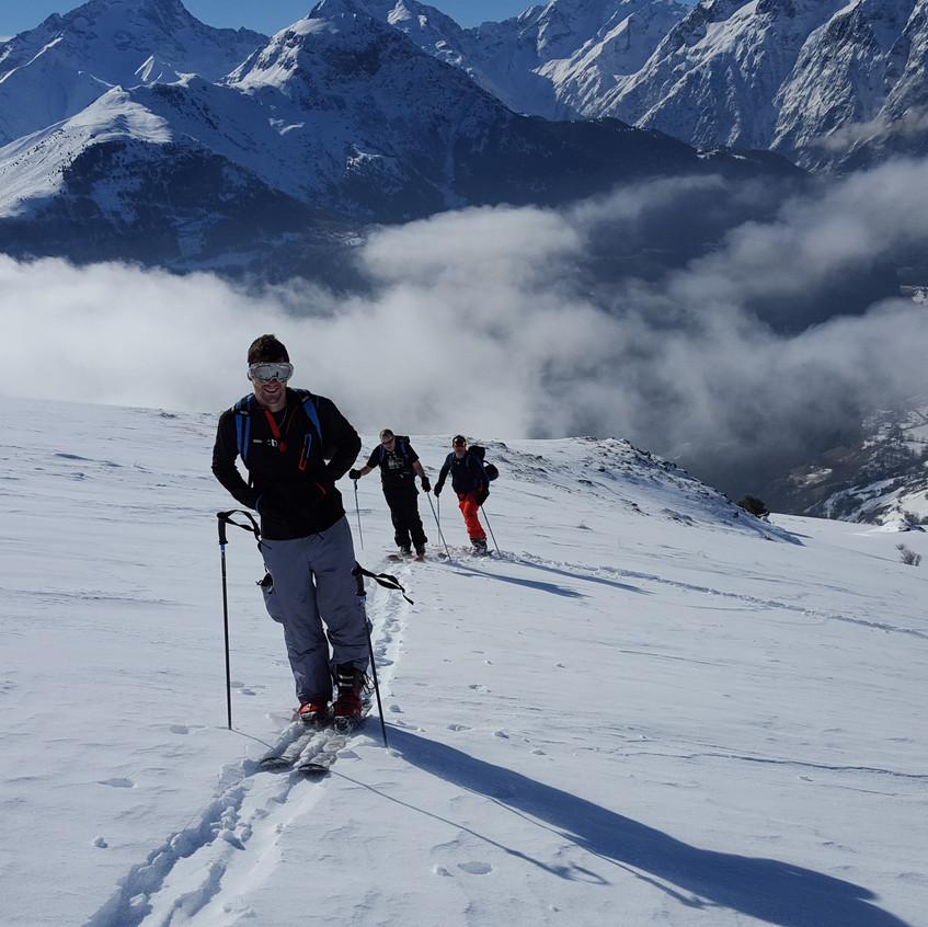 Ski touring Alpe d'Huez