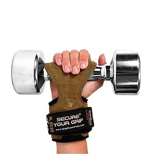 כפפות אימון לגברים קוברה גריפס PRO מעור - חום