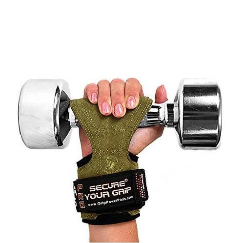 כפפות אימון לגברים קוברה גריפס PRO מעור - ירוק