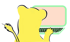 Lioness on laptop yellow.png