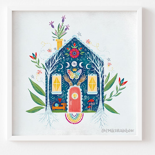"""Home Art Print - From the """"The Ethics of OZ Collection"""""""