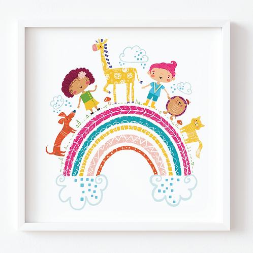 Rainbow Friends Art Print