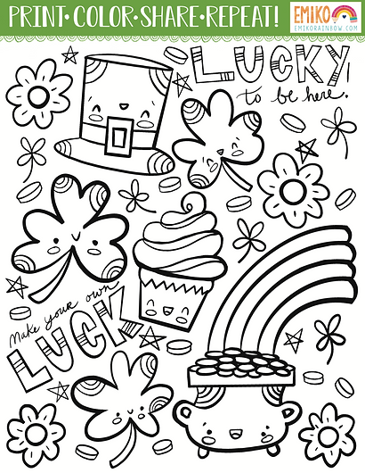 Saint Paddy's Day Coloring Page
