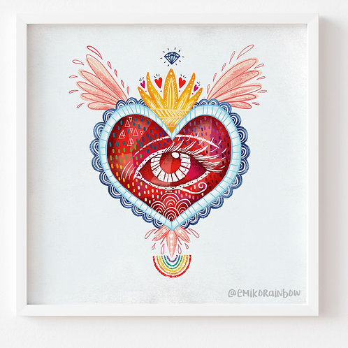 """Heart Art Print - From the """"The Ethics of OZ Collection"""""""