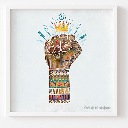"""Courage Art Print - From the """"The Ethics of OZ Collection"""""""