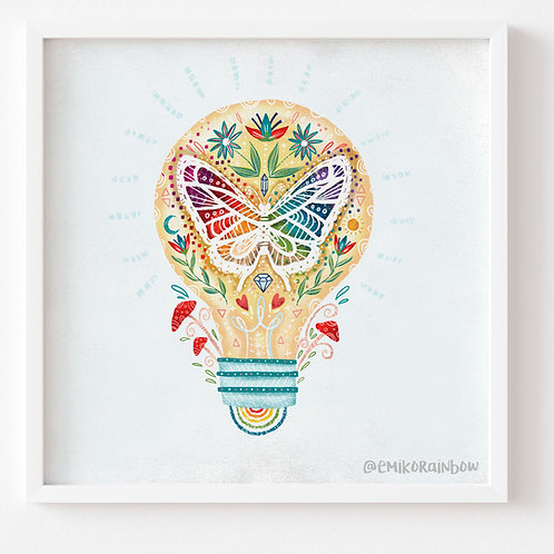"""Brain Art Print - From the """"The Ethics of OZ Collection"""""""