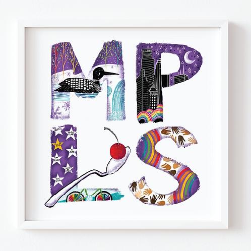 Minneapolis Minnesota Illustration