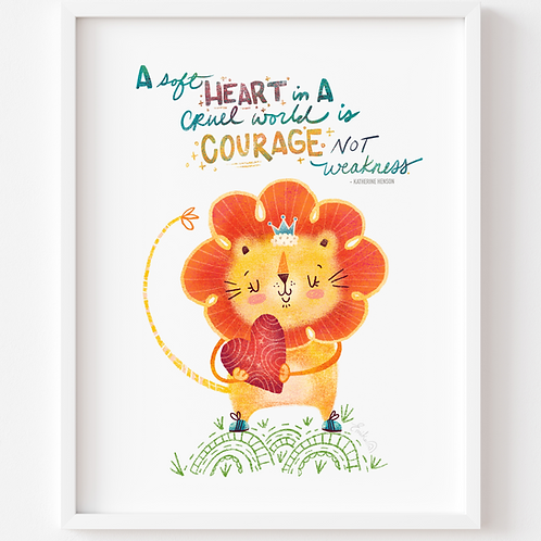 A Soft Heart Art Print