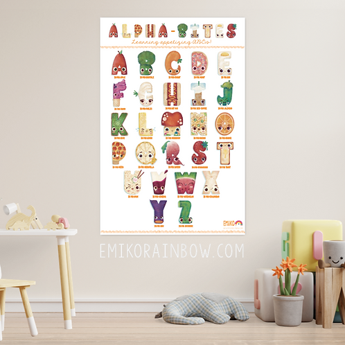 Alpha-Bites Poster - Learning the appetizing ABC's