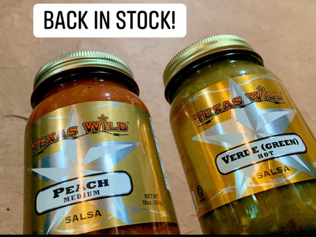Peach and Verde Salsa Back in stock! 🤠