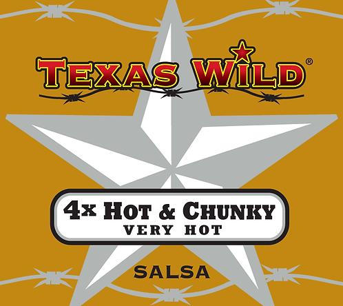 4x Hot & Chunky (VERY HOT) 16oz