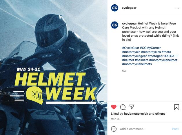 Social Post Helmet Week 2021