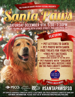Santa Paws Poster Philly Historical