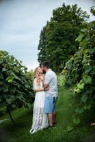 newlyweds outdoor wedding