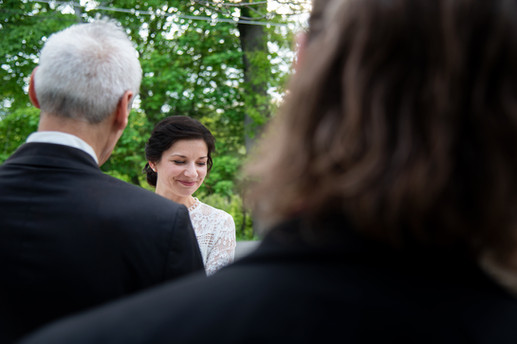 smiling at the vows