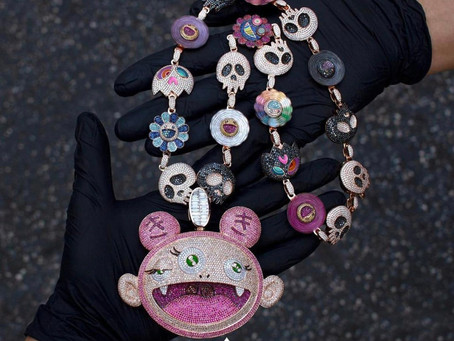 Kid Cudi Custom Takashi Murakami Chain for Birthday