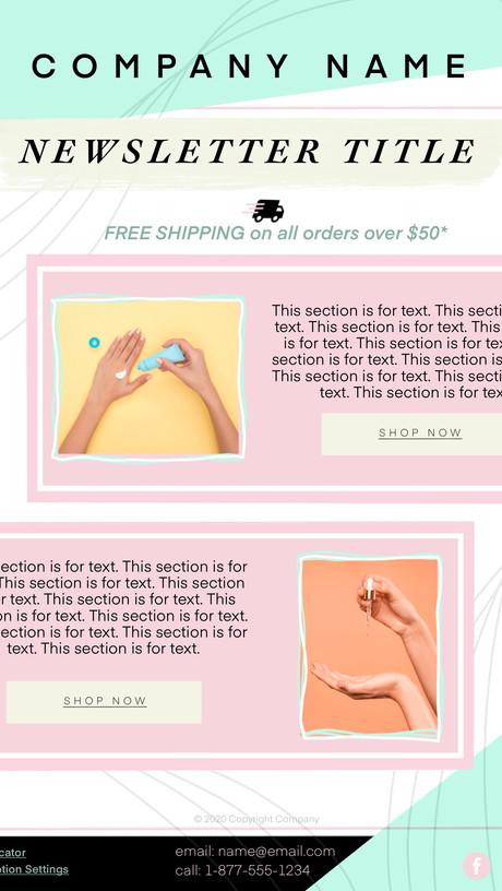 Sample Newsletter Template Design