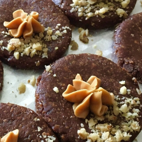 Raw Chocolate and Hazelnut Biscuits (Box of 24)