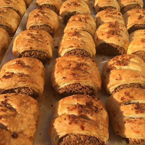 Mini Sausage Rolls Party Package (Box of 36), Can Be Eaten Hot or Cold