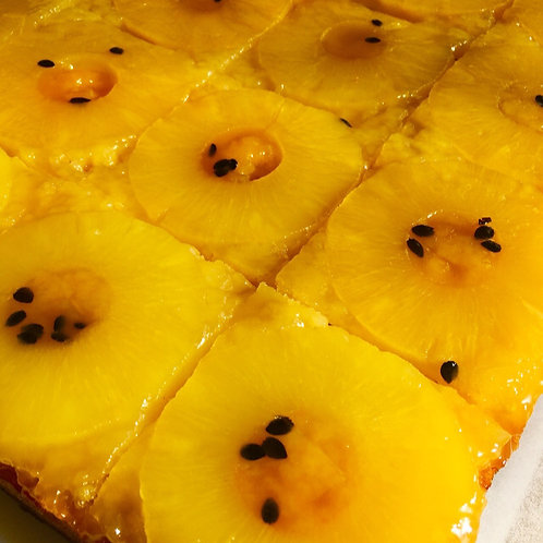 Pineapple, Mango, and Passion Fruit Tarte Tatin