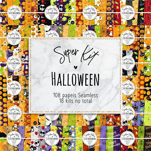 Super Kit Papeis Digitais Seamless | Halloween