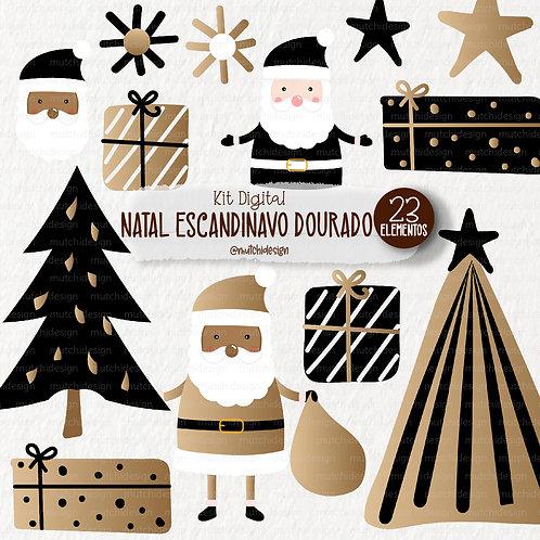 Cliparts   Natal Escandinavo Dourado