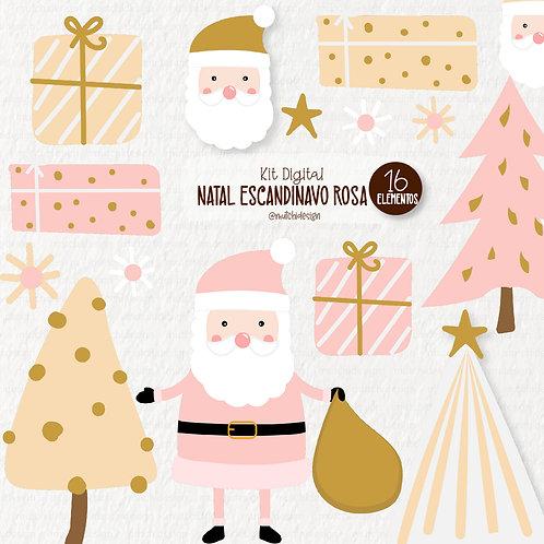Cliparts | Natal Escandinavo Rosa