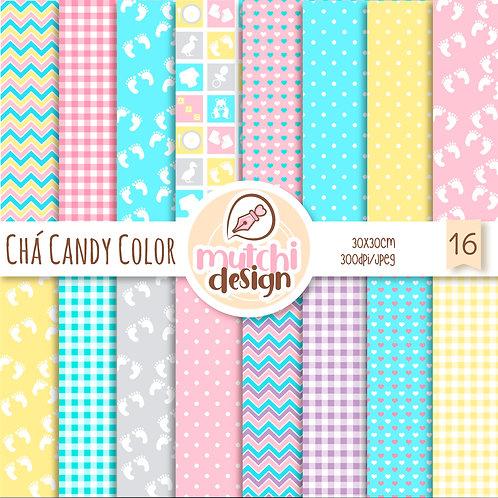 Papeis Digitais   Chá candy Colors