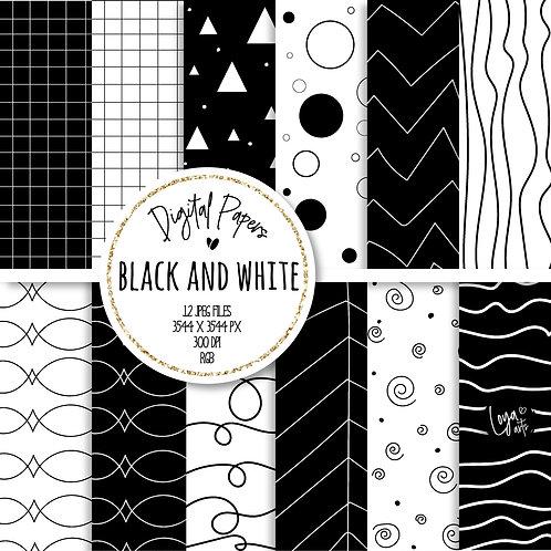 Papeis Digitais | Black and White