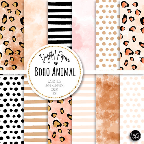 Papeis Digitais | Boho Animal