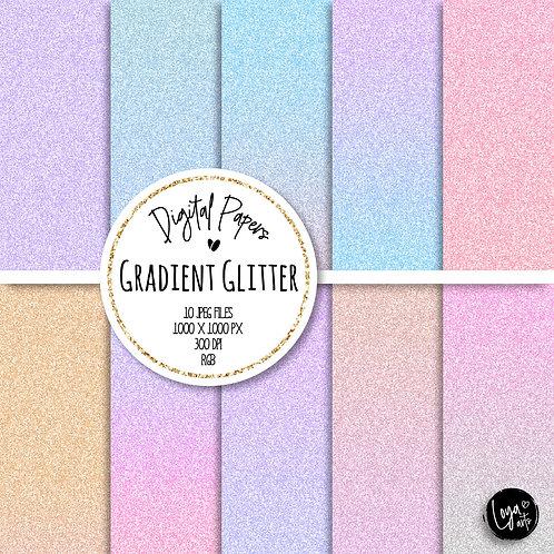 Papeis Digitais | Glitter Fantasia