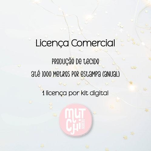 Licença Comercial | Produção de tecido (até 1000mts)