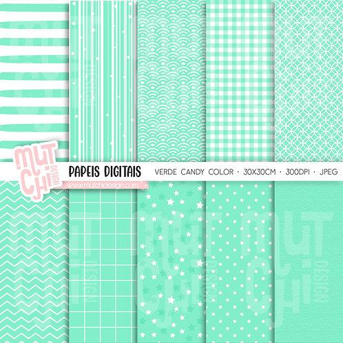 Papeis Digitais | Candy Color Verde