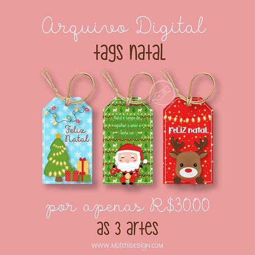 Tags Natal ( imprima e corte )