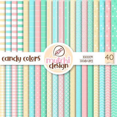 Papeis Digitais | Kit Candy Colors
